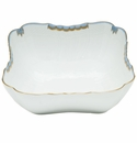 "Herend Princess Victoria Light Blue Square Salad Bowl 10""Sq"