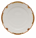 "Herend Princess Victoria Rust Dinner Plate 10.5""D"