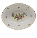 """Herend Printemps Oval Vegetable Dish  10""""L X 8""""W"""