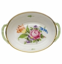"""Herend Printemps Small Basket With Handles 2.75""""L"""