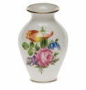 """Herend Printemps Small Bud Vase With Lip 2.5""""H"""