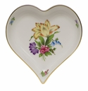 """Herend Printemps Small Heart Tray  4""""L X 4""""W"""