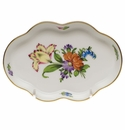 """Herend Printemps Small Scalloped Tray  5.5""""L"""