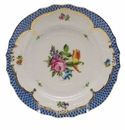 Herend Printemps With Blue Border Bread & Butter Plate - Motif 02 6