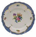 Herend Printemps With Blue Border Bread & Butter Plate - Motif 04 6