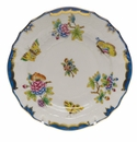"Herend Queen Victoria Blue Border Bread & Butter Plate 6""D"