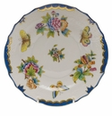"Herend Queen Victoria Blue Border Salad Plate 7.5""D"