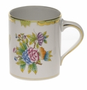 "Herend Queen Victoria Coffee Mug (16 Oz) 4""H Green"