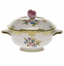 Herend Queen Victoria Covered Bouillon Lid Only With Rose (Lid Only)