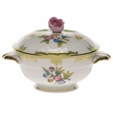 Herend Queen Victoria Covered Bouillon Cup With Rose Lid - Kit (8 Oz Capacity)