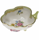 "Herend Queen Victoria Deep Leaf Dish  4""L X 3""W Gr"
