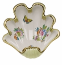 "Herend Queen Victoria Fancies Large Shell Dish 9""L X 8.75""W"