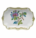 "Herend Queen Victoria Fancies Mini Scalloped Tray 4.25""L X 3"