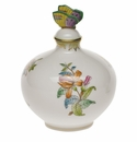 "Herend Queen Victoria Fancies Perfume With Butterfly  4""W X 5""H"
