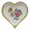 "Herend Queen Victoria Fancies Small Heart Tray  4""L X 4""W"
