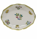 "Herend Queen Victoria Fancies Small Oval Dish 7.5""L X 1.5""H"