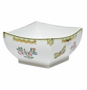 "Herend Queen Victoria Fancies Small Square Bowl 5.5""L X 2.75"