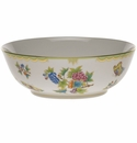 "Herend Queen Victoria Green Border Large Bowl 11""D -"