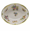 "Herend Queen Victoria Oval Vegetable Dish  10""L X 8""W Gr"