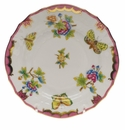 "Herend Queen Victoria Pink Border Bread & Butter Plate 6""D"