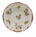 "Herend Queen Victoria Pink Border Rim Soup Plate 8""D"