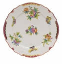 "Herend Queen Victoria Pink Border Service Plate 11""D"