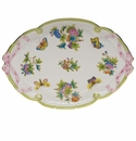 "Herend Queen Victoria Ribbon Tray  15.75""L X 11""W"