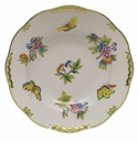 "Herend Queen Victoria Rim Soup Plate  8""D - Green Border"
