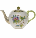 Herend Queen Victoria Tea Pot With Butterfly (12 Oz) 4""