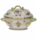 "Herend Queen Victoria Tureen With Branch  (2 Qt) 9.5""H"
