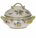"Herend Queen Victoria Tureen With Branch  (4 Qt) 10""H"