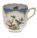 Herend Rothschild Bird Blue Border After Dinner Cup (3 Oz)