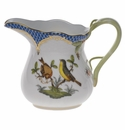 "Herend Rothschild Bird Blue Border Creamer  (6 Oz) 3.5""H Blue B"