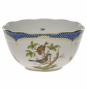 "Herend Rothschild Bird Blue Border Round Bowl  (3.5 Pt) 7.5""D"