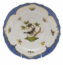Herend Rothschild Bird Blue Border Salad Plate - Motif 01 7.5""