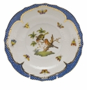 Herend Rothschild Bird Blue Border Salad Plate - Motif 10 7.5""