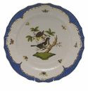 "Herend Rothschild Bird Blue Border Service Plate - Motif 01 11""D"
