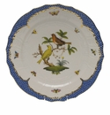 "Herend Rothschild Bird Blue Border Service Plate - Motif 06 11""D"