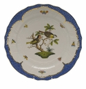 "Herend Rothschild Bird Blue Border Service Plate - Motif 11 11""D"