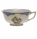 Herend Rothschild Bird Blue Border Tea Cup - Motif 02 (8 Oz)