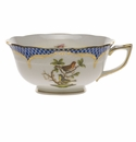 Herend Rothschild Bird Blue Border Tea Cup - Motif 03 (8 Oz)