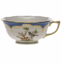 Herend Rothschild Bird Blue Border Tea Cup - Motif 05 (8 Oz)