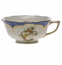 Herend Rothschild Bird Blue Border Tea Cup - Motif 06 (8 Oz)