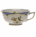 Herend Rothschild Bird Blue Border Tea Cup - Motif 07 (8 Oz)
