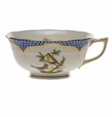 Herend Rothschild Bird Blue Border Tea Cup - Motif 08 (8 Oz)