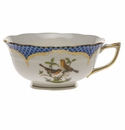 Herend Rothschild Bird Blue Border Tea Cup - Motif 09 (8 Oz)