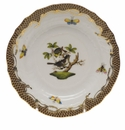Herend Rothschild Bird Chocolate Brown Border Bread & Butter Plate - Motif 01 6