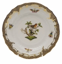Herend Rothschild Bird Chocolate Brown Border Bread & Butter Plate - Motif 03 6