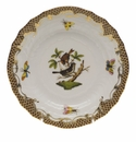 Herend Rothschild Bird Chocolate Brown Border Bread & Butter Plate - Motif 04 6