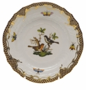 Herend Rothschild Bird Chocolate Brown Border Bread & Butter Plate - Motif 05 6
